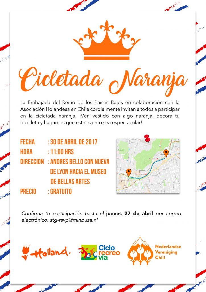 Invitación Cicletada Naranja - 30 de abril (klein)